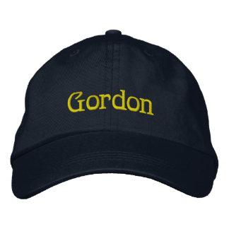 Casquillo del diseñador conocido de GORDON Gorra Bordada