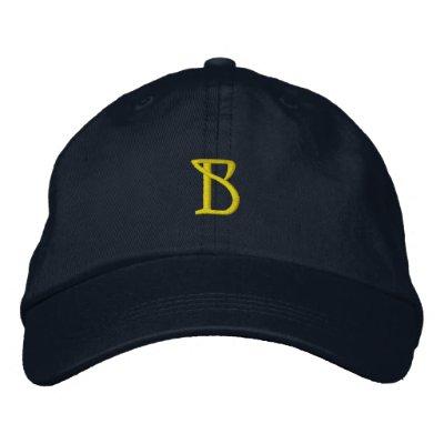 """Casquillo del diseñador de la INICIAL """"B"""" Gorra De Béisbol Bordada"""