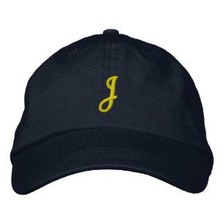 """Casquillo del diseñador de la INICIAL """"J"""" Gorras Bordadas"""