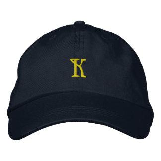 """Casquillo del diseñador de la INICIAL """"K"""" Gorras Bordadas"""