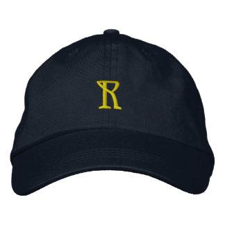 """Casquillo del diseñador de la INICIAL """"R"""" Gorras De Beisbol Bordadas"""