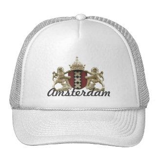 Casquillo del emblema de la ciudad de Amsterdam Gorras De Camionero