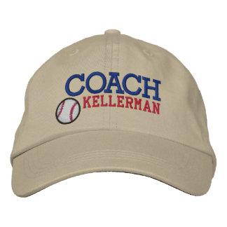 Casquillo del entrenador de béisbol gorro bordado