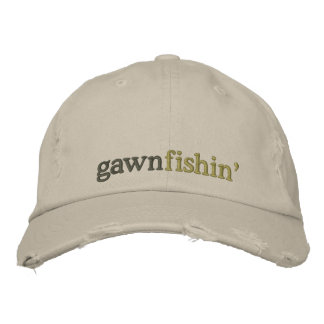 casquillo del fishin del gawn gorro bordado