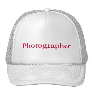 Casquillo del fotógrafo gorra