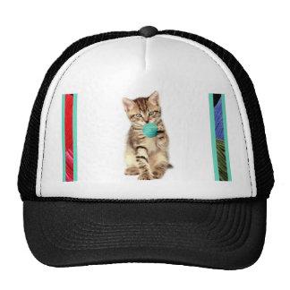 Casquillo del gatito y del hilado gorras de camionero