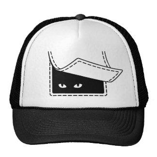 Casquillo del gato del bolsillo gorras