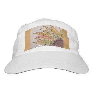 Casquillo del girasol de la acuarela, amarillo gorra de alto rendimiento