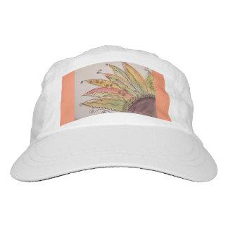 Casquillo del girasol de la acuarela, naranja gorra de alto rendimiento