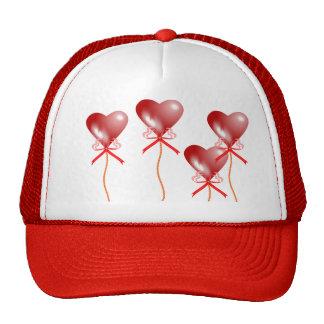 Casquillo del globo del fiesta del corazón gorras