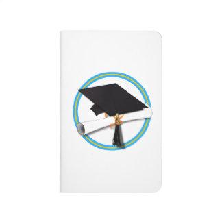 Casquillo del graduado con el diploma - oro y Lt Cuadernos Grapados