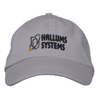 Casquillo del gris de los sistemas de Hallums Gorra Bordada