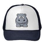Casquillo del hipopótamo del dibujo animado gorra