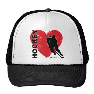 Casquillo del hockey del corazón del amor de las gorro