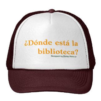 Casquillo del humor de Biblioteca del La de Donde  Gorra