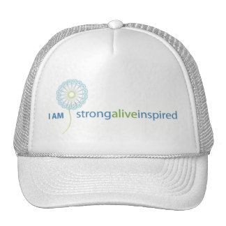 casquillo del iamstrongwithblueflower gorras