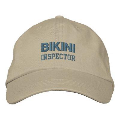 Casquillo del INSPECTOR del BIKINI (monótono) Gorra De Beisbol Bordada