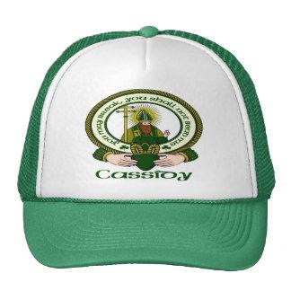 Casquillo del lema del clan de Cassidy Gorras De Camionero