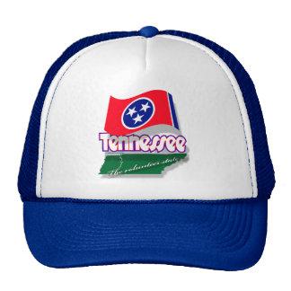 Casquillo del mapflag de Tennessee Gorros Bordados