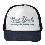 Casquillo del maratón del azul de Nueva York 26,2 Gorros Bordados
