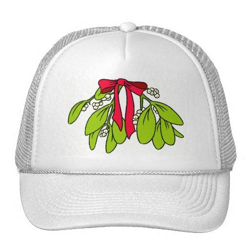 Casquillo del muérdago del navidad gorras