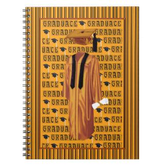 Casquillo del naranja, negro y blanco del note book