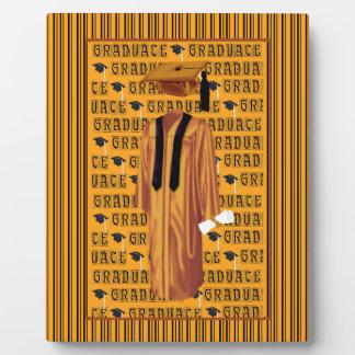 Casquillo del naranja, negro y blanco del placa de madera