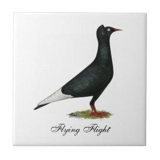 Casquillo del negro del vuelo del vuelo teja  ceramica