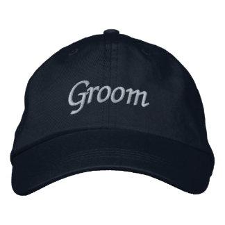 Casquillo del novio gorra de béisbol bordada