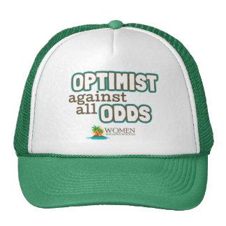 Casquillo del optimista de la isla (verde) gorros bordados