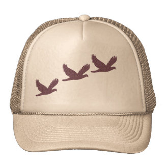 Casquillo del pájaro en vuelo gorros bordados