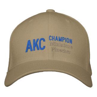 Casquillo del Pinscher miniatura del campeón de AK Gorra De Béisbol