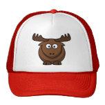 Casquillo del reno de los alces del dibujo animado gorras de camionero
