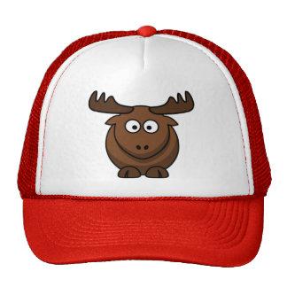 Casquillo del reno de los alces del dibujo animado gorras