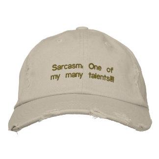 Casquillo del sarcasmo gorra bordada