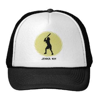 Casquillo del talud del softball gorras