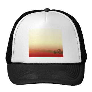 Casquillo del tractor de la puesta del sol gorros