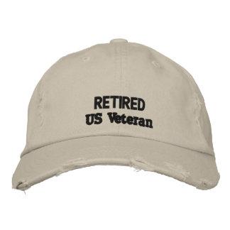 casquillo del veterano gorra de beisbol bordada