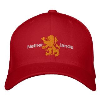 Casquillo desenfrenado rojo y anaranjado holandés  gorra de béisbol