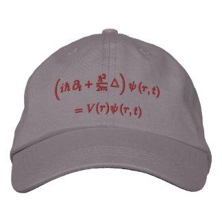 Casquillo, ecuación de onda de Schrodinger, hilo r Gorras Bordadas