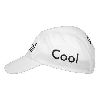 Casquillo fresco con su texto gorra de alto rendimiento