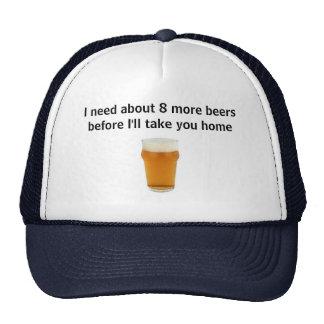 casquillo fresco de los bebedores de cerveza gorros bordados