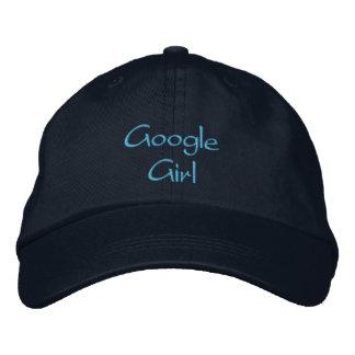 Casquillo/gorra bordados chica de Googlie Gorra De Beisbol Bordada