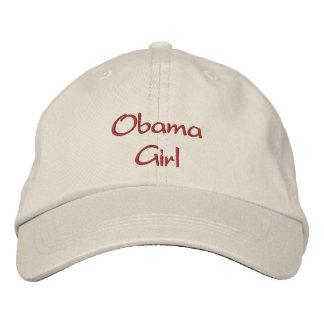 Casquillo/gorra bordados chica de Obama Gorras De Béisbol Bordadas