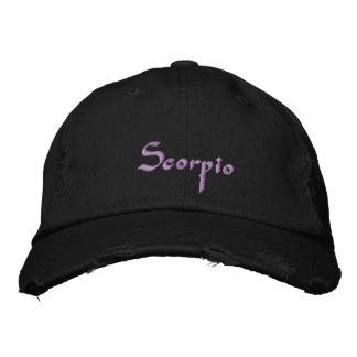 Casquillo/gorra bordados zodiaco del escorpión gorra de béisbol bordada