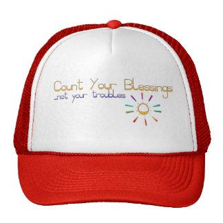Casquillo/gorra con el mensaje inspirado