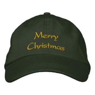 Casquillo/gorra de las Felices Navidad Gorras De Beisbol Bordadas