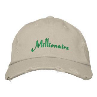 Casquillo/gorra del millonario gorra de beisbol