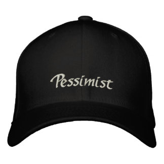 Casquillo/gorra del pesimista gorra bordada