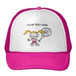 Casquillo/gorra rosados del tenis con la impresión